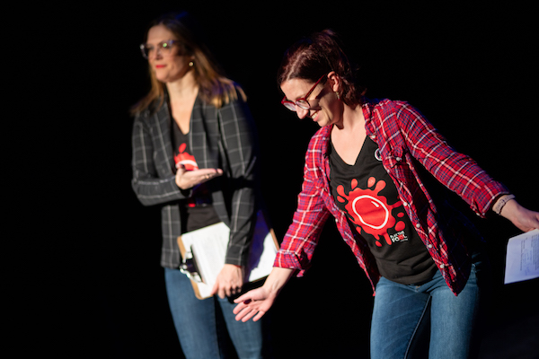 Christine Lesiak and Julie Kiraly